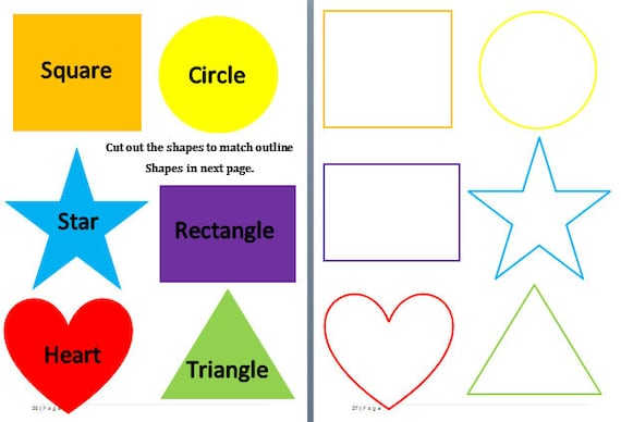 Learning Shapes Shape Matching Game Educational Preschool