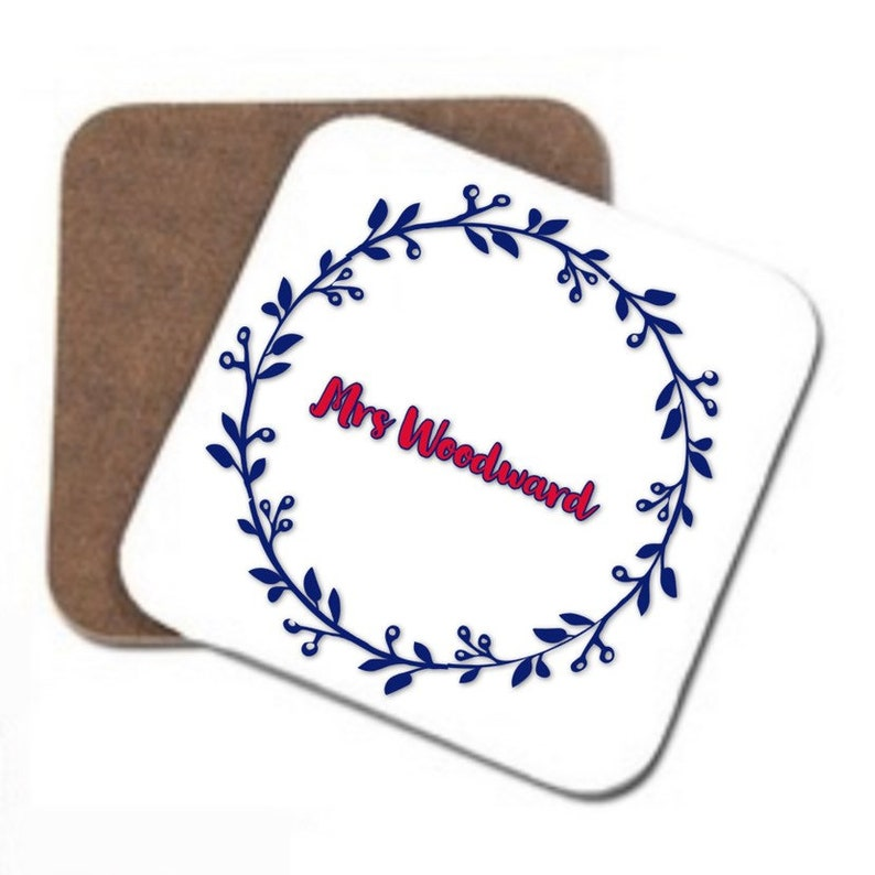 printed coaster thank you gift Personalised teacher coaster quote coaster present for teacher end of term gift female teachers gifts