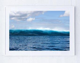 Wave art print/ Tropical Print/ Surf Print/ Surfing/ Beach Print/ Ocean Print/ Water Print/ Crystal/ Home Decor/ Waves/ Art Print/ Wall Art