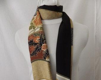 Vintage Japanese Kimono Silk Scarf