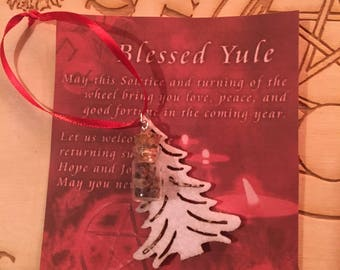 Yule Ornament with Frankincense and Myrrh