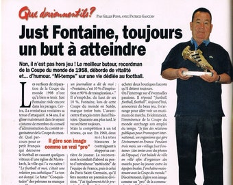 Just Fontaine - 1998 clipping press clipping 20 x 28 cm - football, soccer, World Cup, world cup
