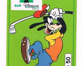 Disneyland Paris - blank card, used french phonecard June 1994 - Disney Goofy Golf - C47049108 - annees90 nineties vintage Dingo