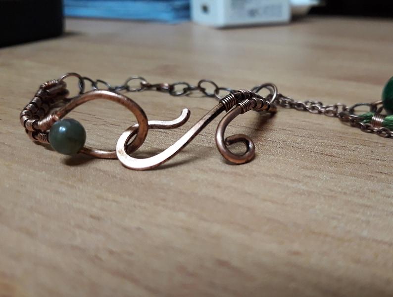 Wirewrapped Jewelry Celtic Bracelet Custom Bracelet Gemstone Bangle For Women Viking Arm Band Tassel Bracelet