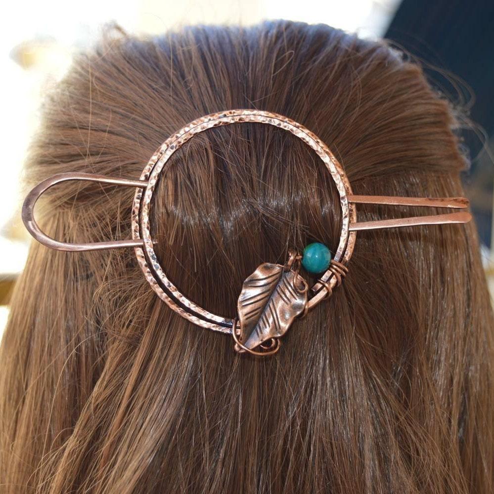 Small Hair Clip Skull French Barrette