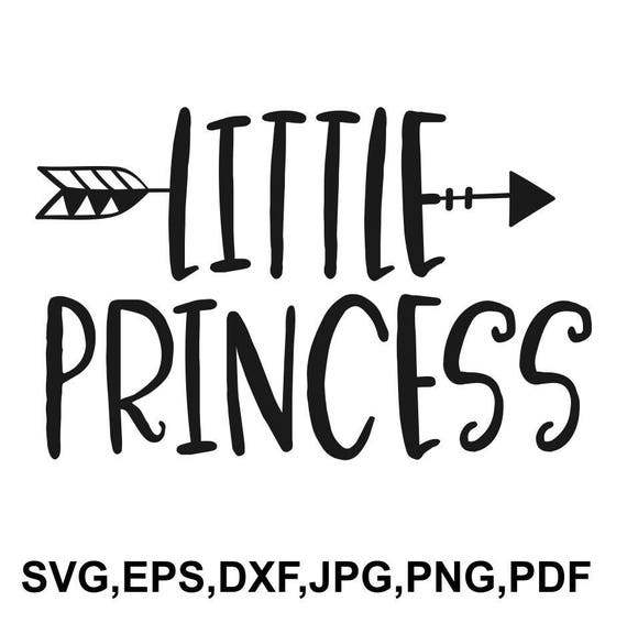 Little Princess Svg File Girl Cricut File New Baby Etsy