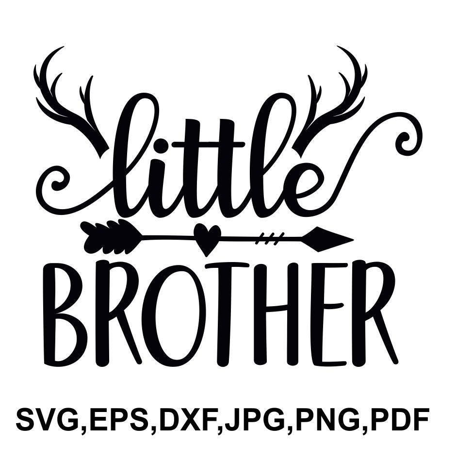 Download Little brother SVG file brother hunting saying little | Etsy