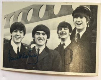 Beatles Collector card #123 of all four in black and white, 3rd series