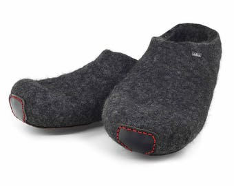 Lowul Clox Felted Wool Slippers