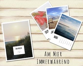Am Meer - Perpetual Calendar (German edition)