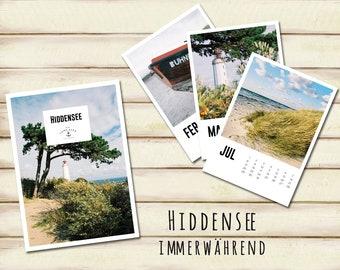 Hiddensee - perpetual calendar (german)