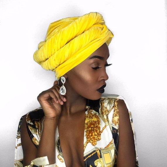 VELVET HEADWRAP Yellow Gold