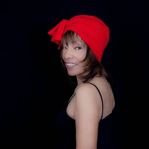 COTTON KNIT HEADWRAP Red