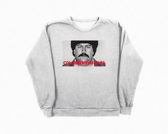 Pablo Escobar Colombia Hustler Crewneck