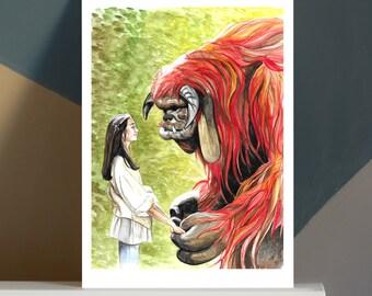 Ludo Friend A4 Art Print