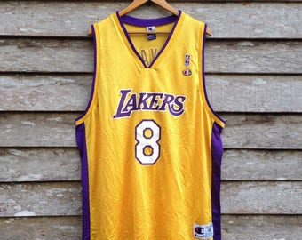 3fd6a65092e2 Vintage Champion Basketball Jersey Los Angeles Lakers Kobe Bryant  8 unisex  XL size