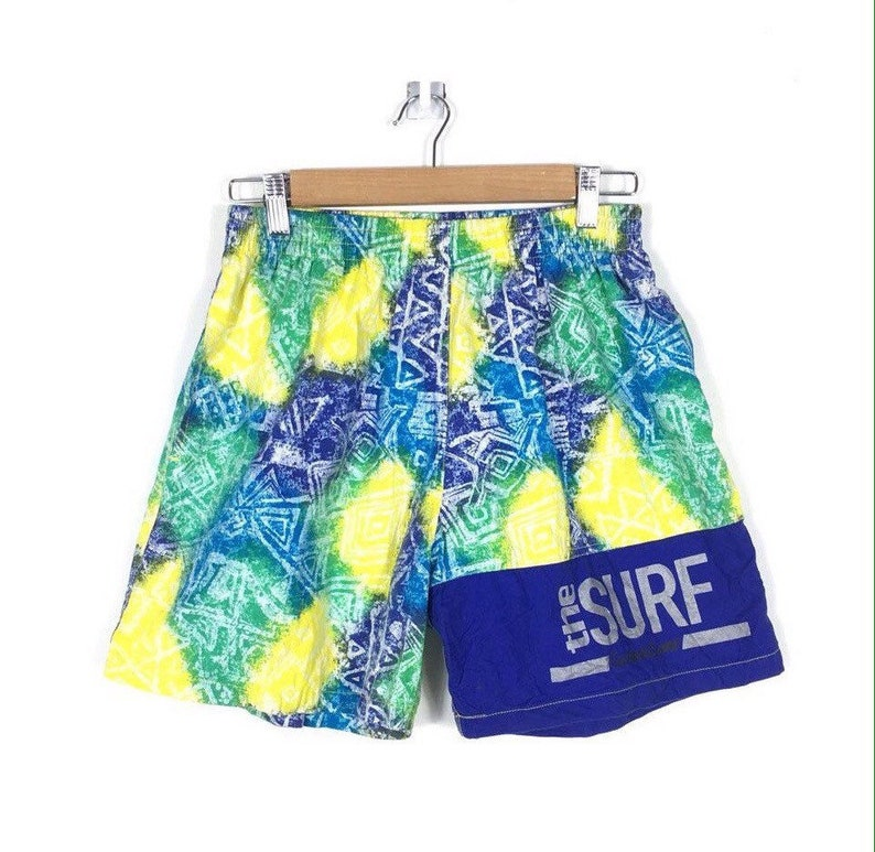 a6327a5074fb9 Rare Swim Trunks The Surf Surfing Abstract Colour Trunks   Etsy