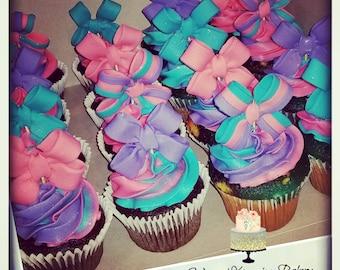 0e6c07aaeac Jojo Siwa inspired bow cupcake toppers