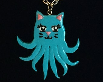 Turquoise Octokitty Necklace