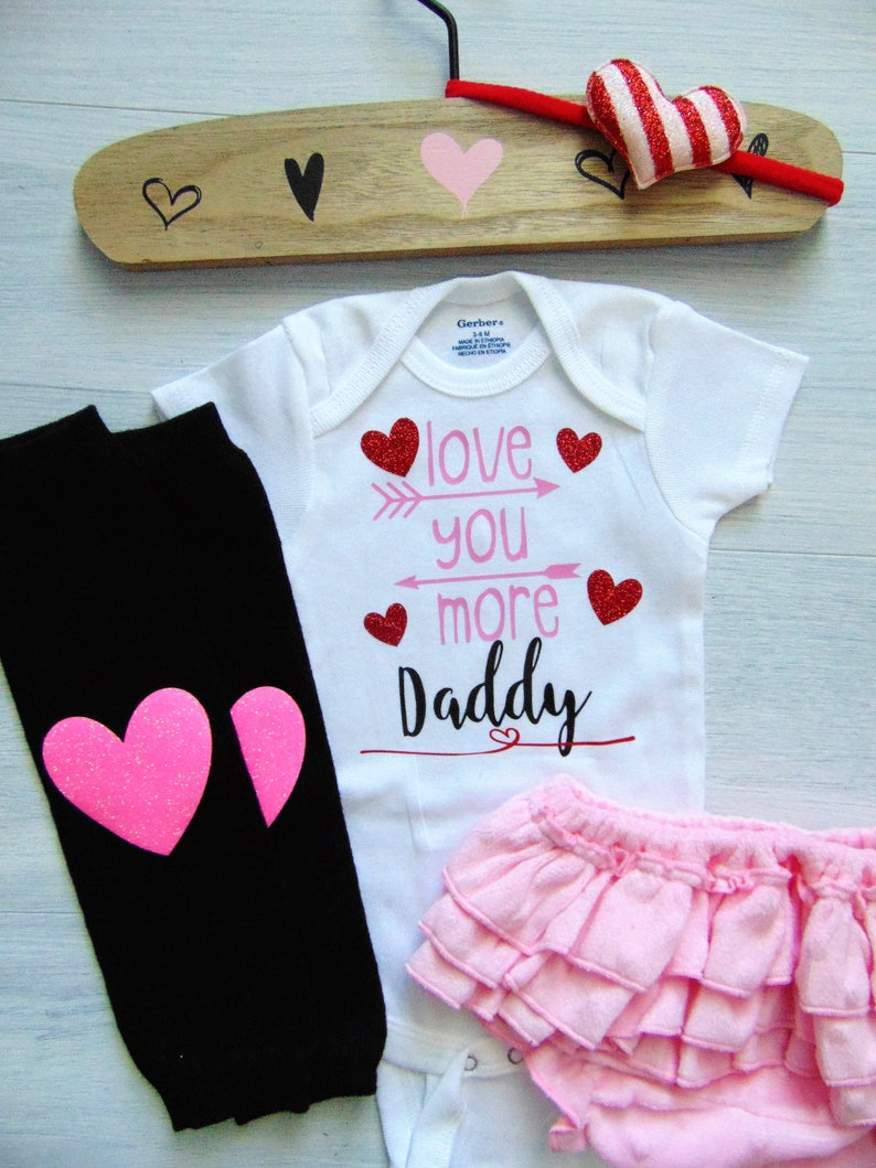 Daddy Outfits Baby Girl Outfit Daddy Outfit Daddys Bestie Pink Kids Outfit Love Daddy Outfit Love Daddy Shirt Pink Baby Bodysuit