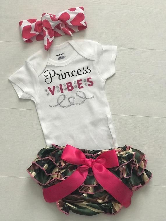 2aac478d44c7 Princess Vibes Baby Girl Onesie Baby Girl Bodysuit Baby Girl