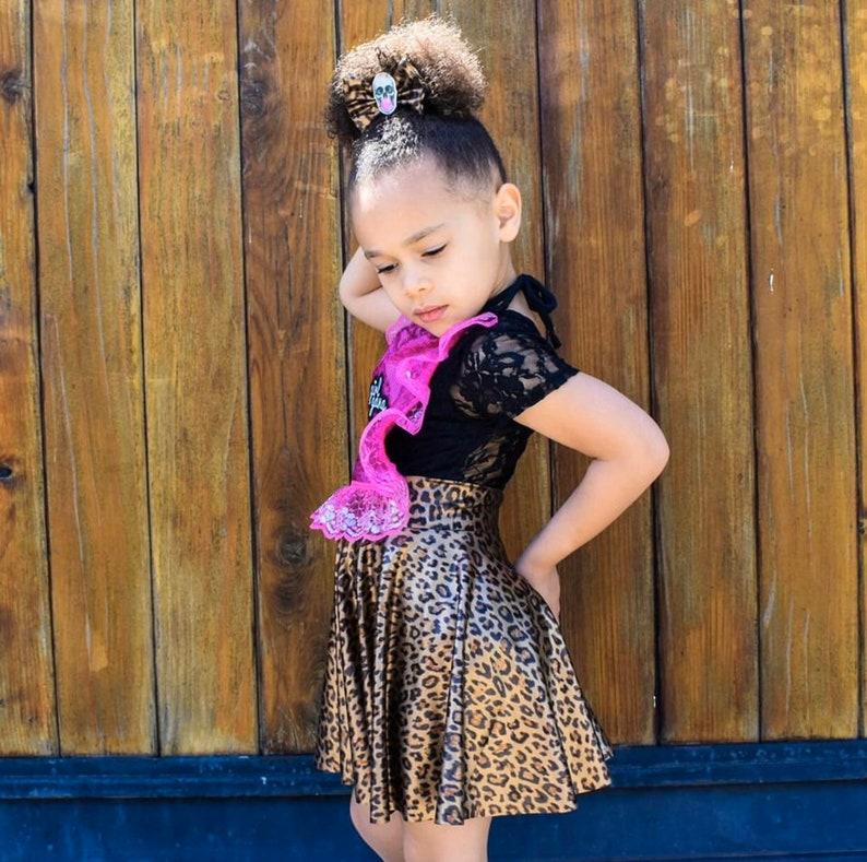 Black Lace Leo Bummies Crop Top Top