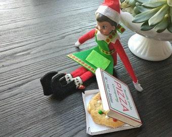 Elf Pizza Box Template