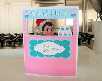 Printable Elf Bake Sale Stand