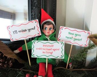 16 Printable Elf Signs