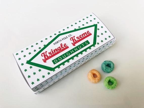 Elf Doughnut Box Printable