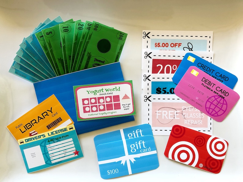 graphic regarding Playing Money Printable identify Blue Participate in Wallet Printable with Enjoy Playing cards, Enjoy Monetary, Enjoy Exams, Engage in Discount codes