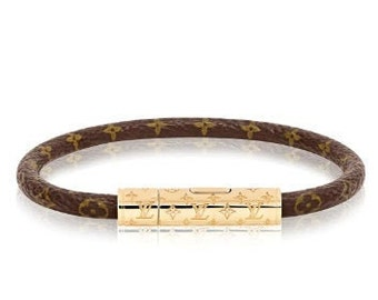 863e9dfb7 lV Confidential Bracelet, Handmade Bracelet Louis Vuitton, Leather & Gold