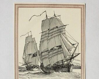 Nautical Book Page Print- Captain James Cook