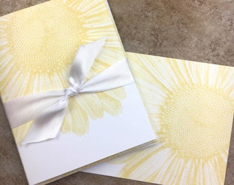 Embossed Bicycle Note Cards set of 8 A2 size 5.5 inches by 4.25 inches
