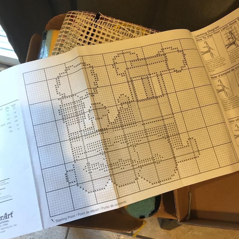 Loco Motion project for babychild room Latch Hook Kit Train Engine latch hook kit 19801990 hobby kit craft kit hooked rug kit