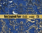 Navy Blue Paper mache Origami Paper Scrapbook Paper wrapping paper printable paper paper for decoupage Decorative Paper Seamless Paper