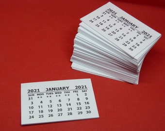 Crafts /& Scrapbooking Package of 10 Mini Tear-off Calendars for Card Making