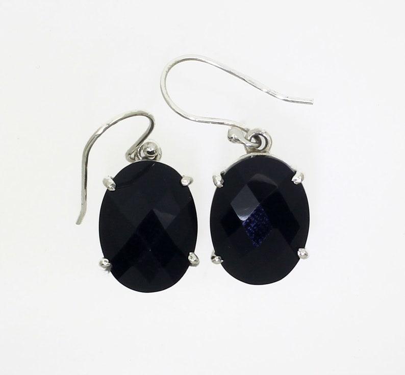 Earrings 925 Silver Black Onyx Earrings Silver Black Onyx Earrings Black Onyx Earrings Gift For Her Handmade Black Onyx Earrings