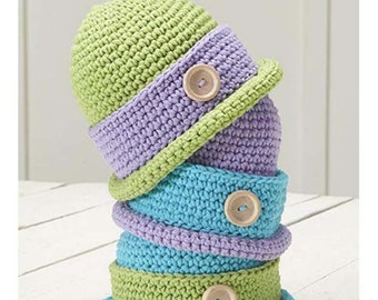 Baby Bowler Cap By Willow ~ Crochet Pattern Only