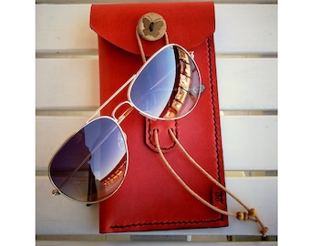 Leather Sunglasses Case, Leather Sunglass Case, Glasses Case, Leather Case, Glasses Protector, handmade,mothers day, mother gift