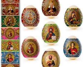 Flowers # 46 Easter Egg Sleeves Only Egg shrink Wraps Easter Decoration Pysanka