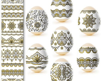 Easter Egg Wraps for 7 Hen Eggs, Pysanka, Pysanky Egg Heat Shrink Sleeves, #32