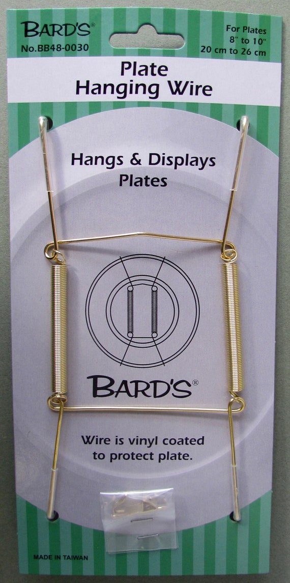 """Set of 4 Tray/&Plate Hangers,Plate Hanging Wire,Displays Plates 5/""""-8/"""" in Diameter"""