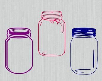 monogram mason jar etsy