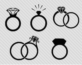 Wedding Ring Clipart.Engagement Clipart Etsy