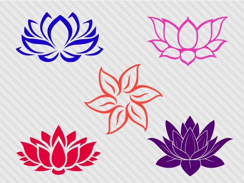 Lotus Flower Svg Bundle Lotus Svg Lotus Flower Clipart Etsy