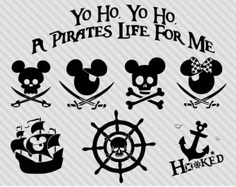 Disney cruise svg bundle, disney pirate svg clipart, dxf, png, walt disney mickey mouse svg