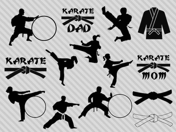 Karate Svg Bundle Karate Clipart Karate Monogram Frame Svg Etsy