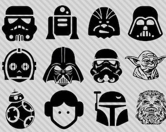 Star Wars svg bundle, star wars clipart,dxf,png