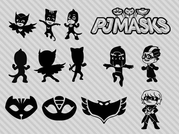 PJ Masks Svg Bundle Pj Clipart Png Dxf Owlette